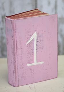 This would be so easy to do. Buy a used (or find for free!) book and paint the front cover, then use as table number to fit in with the creative-artsy-literature theme. Ta-da!