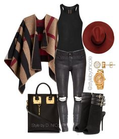 Untitled #3126 by stylebydnicole on Polyvore featuring polyvore fashion style Rick Owens Burberry Giuseppe Zanotti Sophie Hulme Movado women's clothing women's fashion women female woman misses juniors