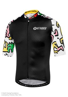 Attaquer x Keith Haring Jersey Black White Cycling Clothes c8b1b79e0