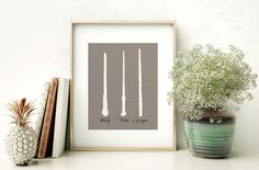 Harry Potter Print // Wands // Printable by BrooksBrotherDesigns