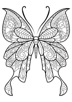 This adult coloring book with beautiful butterfly pictures to color is very easy to use. Multiple color palettes and a personal gallery of your own works, along with calming, relaxing background music, make this anti stress coloring book for adults as user friendly as it can get! Coloring books for grown ups like this one are a path to mindfulness. Engage yourself in hours of peaceful color therapy with gorgeous butterfly coloring pages for adults, including mandala coloring book design.