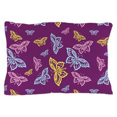 Colorful Butterfly Pattern Pillow Case