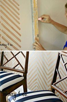 Make a beautiful accent wall on a budget with this simple DIY wall project. Perfect for your living room, bedroom and entryway wall. #hometalk