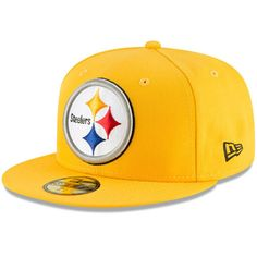 It will be obvious that your Pittsburgh Steelers passion runs deep when you are wearing this Omaha hat from New Era. Pittsburgh Steelers Hats, Pittsburgh Steelers Merchandise, Steelers Gear, Football Caps, Nba Caps, Football Accessories, 59fifty Hats, Jordan Basketball Shoes, New Era Cap