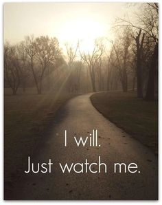 I will just watch me. - Fitness Inspiration #fitness #inspiration #BeFit http://www.skinnymefat.com #FitnessInspiration
