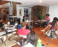 Student attend a 3 Day Boot Camp at Everette's Natural Hair Academy for the competition of their course.   www.everettes.com