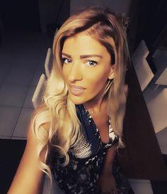 Beautiful Elli Fourkioti wearing a Printed Maxi dress by Elena Chalati