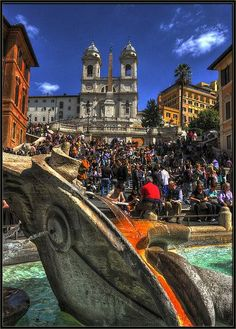 Spanish Steps in Rome, Italy One of my last nights in Italy was spent here