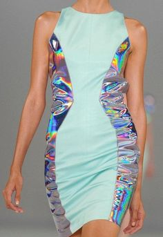 Futuristic Fashion, Holographic Clothing, Future Girl, Futuristic Dress