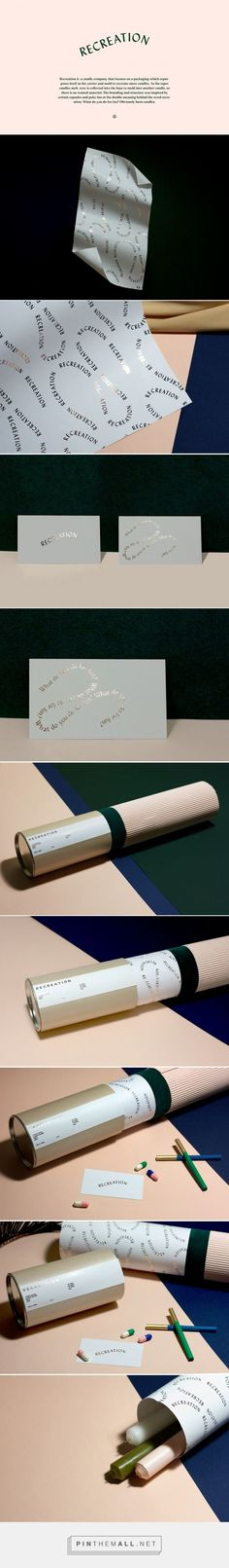 Recreation branding #foil #identity #stationery