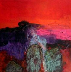 Red sky and stones: Images of the Wiltshire landscape by Marie Allen.
