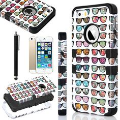 iPhone 5S Case, Pandamimi ULAK(TM) Fashion Pattern Hybrid High Impact Soft TPU + Hard PC Case Cover for Apple iPhone 5S and iPhone 5 with Screen Protector and Stylus (The way I see it+Black) ULAK http://www.amazon.com/dp/B00KD1U4MU/ref=cm_sw_r_pi_dp_eCW0ub1FK0EPM
