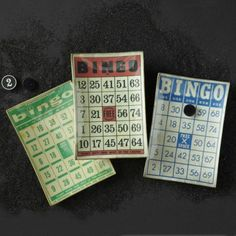 Mom would have LOVED these!!  Bingo Card Plates - Set of 3