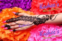 Arabic mehndi design by kashee 's beauty parlour