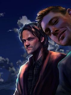 Artwork practice before going to bed. Sam and Dean. #spn #Supernatural