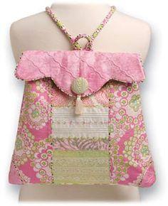 Bonita Bolsa para espalda en tonos rosas