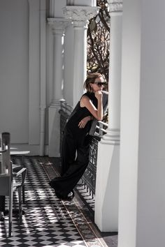 Strateas Carlucci, Grey Blazer, Black Pants, Satin Pants, Man Dressing, Man Style, Street Style, Australian Designer, Farfetch, Amanda Shadforth, Oracle Fox