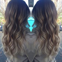 """Freshened up and olaplexed my new roomie hair today!!!!! @brittleno SOOO soft and delicious! Yay #ombre #balayage #theblonderthebetter @kharmadesign…"""