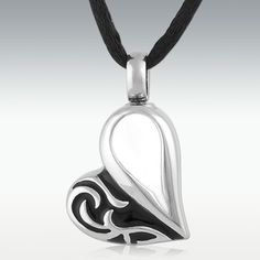 Tocca Heart Stainless Steel Cremation Jewelry - Engravable