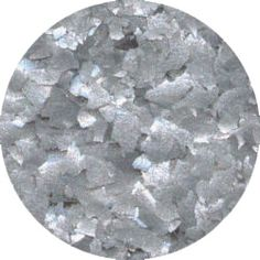Metallic Silver Edible Glitter Flakes by Ck Products 1 oz