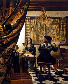 Mona Lisa sendo pintada