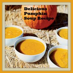 Easy pumpkin soup recipe for fall or Thanksgiving.