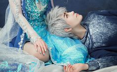 """""""You are not a monster, Elsa."""" Else and Jack Frost cosplay 2/3"""
