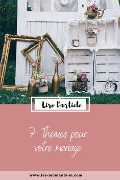Le thème vous permettra de prioriser et vous aidera à imaginer votre scénographie de A à Z. Voici quelques idées de thèmes pour votre mariage. Wedding Planners, Voici, Blogging, In This Moment, Movie Posters, Art, Theme Ideas, Wedding Bride, Weddings