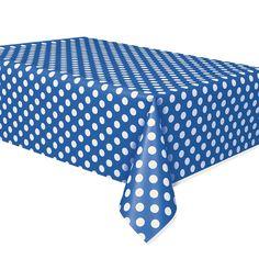 Blue Polka Dot Tablecover Polka Dot Party Supplies $4.25