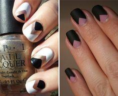 How To: Chevron Nails | Swiish - Fashion, Beauty, & Lifestyle.  http://swiish.com.au/blog-post/how-to-chevron-nails/