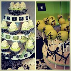 Key lime cupcakes & chocolate cake pops for babyshower