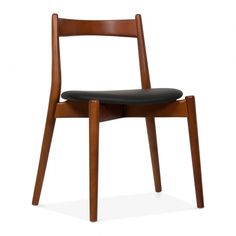Soho Dining Chair - Walnut / Black Seat