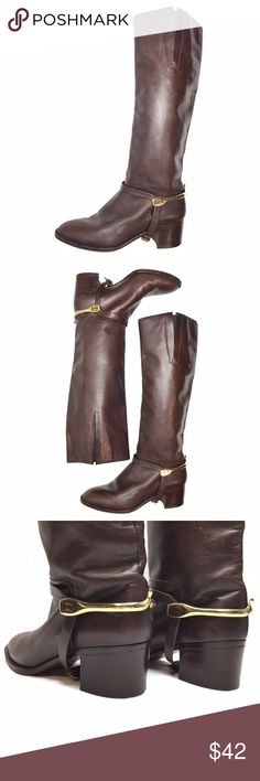 AMAZING VINTAGE ITALIAN KNEE HIGH BOOTS W/ STRAPS! AMAZING VINTAGE ITALIAN KNEE HIGH BOOTS W/ STRAPS! Awesome vintage boots stamped made in ITALY! Marked size 6, in great vintage condition! Dark brown leather with removable straps! Beautiful vintage find! Vintage Shoes Over the Knee Boots