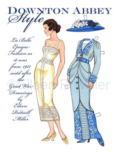 Downton Abbey Style Paper Doll by PaperDollsbyERMiller