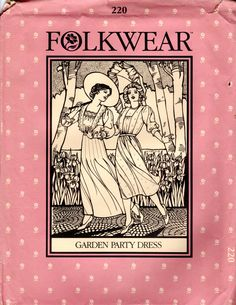 Folkwear Costume Pattern  Garden Party Dress 220  by ErikawithaK