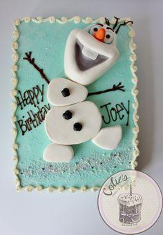 Olaf Disney Frozen cake