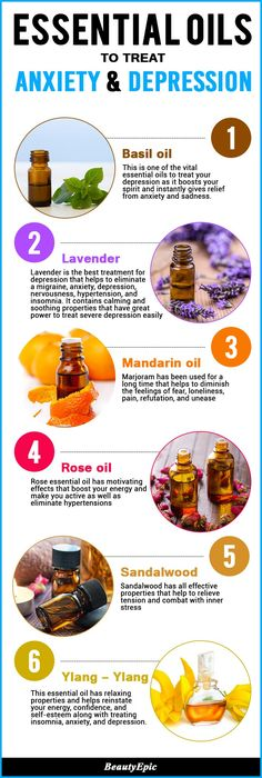 Essential Oils to Treat Anxiety and Depression.