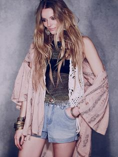 Free People FP New Romantics Embroidered Wrap, $128.00