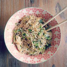 Vermicelles de riz mentsuyu chou chinois
