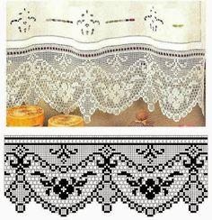 Kira scheme crochet: Scheme crochet no. Crochet Boarders, Crochet Lace Edging, Crochet Motifs, Thread Crochet, Crochet Trim, Crochet Doilies, Crochet Flowers, Crochet Stitches, Crochet Patterns