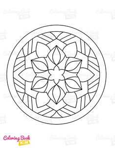 Simple and easy-to-color mandala patterns for kids. The perfect coloring book to start a coloring adventure for kids. Easy Coloring Pages, Mandala Coloring Pages, Coloring For Kids, Coloring Books, Mandala Design, Mandala Pattern, Mandala Simple, Mandalas For Kids, Motifs
