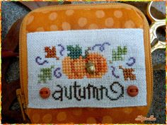 The World's Largest Collection of Smalls TOO: Lizzie Kate beautiful picture of autumn scissor case. love!
