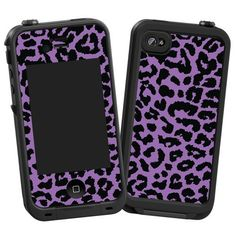 """Purple Leopard """"Protective Decal Skin"""" for LifeProof 4/4S Case"""
