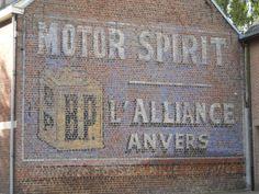 Reclameschildering BP Motor Spirit - l'Alliance Anvers - Inventaris Bouwkundig Erfgoed - Inventaris Onroerend Erfgoed