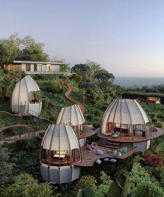 Futuristic Architecture, Amazing Architecture, Architecture Design, Tropical Architecture, Landscape Architecture, Modern House Design, Home Design, Interior Design, Design Ideas