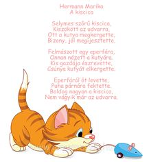 Hermann Marika: A kiscica című verse Stories For Kids, Toddler Activities, Winnie The Pooh, Verses, Poems, Crafts For Kids, Lily, Teaching, Disney Characters