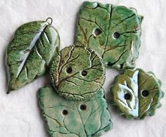 Ceramic Leaf Buttons