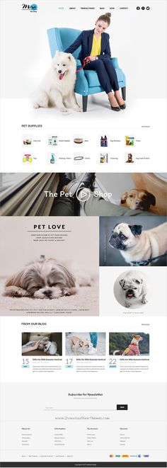 Mira is minimal and creative design multipurpose PSD #template for #pets #shop fashion, cosmetics, plant, pottery and eCommerce website with 13 layered PSD template download now..