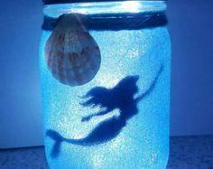 Sirène dans un bocal en veilleuse fleur de par buttonsnbowsbyLaura