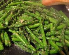 """SAUTEED HERBED ASPARAGUS (Serves: 4-6) ~~ This is a perfect accompaniment to Springtime Lamb or Pork recipes. If you've never been tempted to try asparagus before -- or maybe you've only had bad experiences -- this is the one recipe you may want to try. I'm confident it'll turn you into an asparagus lover in no time at all!  ~~ Click on the pic to access the full Recipe on my Facebook Page. Please """"Friend"""" me or """"Follow"""" me while you're there. Please """"Follow"""" me here on Pinterest."""